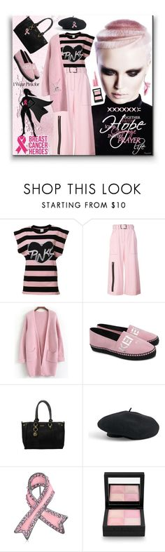 """""""October is Breast Cancer Awareness Month!"""" by ragnh-mjos ❤ liked on Polyvore featuring Pinko, Proenza Schouler, Kenzo, Venus, Bling Jewelry and Givenchy"""