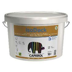 Caparol IsoDeck, binnenmuurverf. Geschikt voor het behandelen van muren en plafonds met nicotinevervuiling.