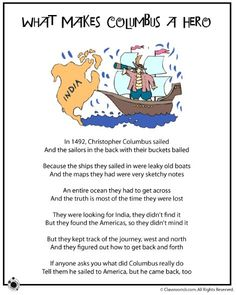 first grade family poems Family Poems, Kids Poems, Holiday Activities, Activities For Kids, Old Boats, Christopher Columbus, Columbus Day, First Grade, Second Grade