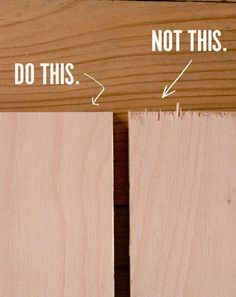 How to Prevent Tearout and Splintering When Cutting Plywood, Once and For All - How to.Furniture - How to Prevent Tearout and Splintering When Cutting Plywood, Once and For All Woodworking For Kids, Woodworking Projects Diy, Woodworking Furniture, Woodworking Tools, Diy Wood Projects For Men, Plywood Projects, Popular Woodworking, Handyman Projects, Wooden Projects