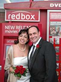 Red Box Wedding, Met there, fell in love there, got married there. Our own fairytale movie ending!!