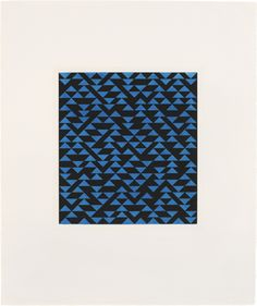 Anni Albers Triangulated Intaglio V, 1976 etching and aquatint 24 × 20 in. (61 × 51.1 cm) 1994.11.40