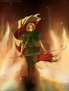 I don't really like the way they portray Poland in Hetalia but he looks epic here! :) Poland is a country I like a lot just not in Hetalia X3