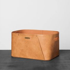 Living Room Storage Bins - Faux Leather Storage Bin Small Brown Hearth & Hand with Magnolia Metal Storage Bins, Decorative Storage Bins, Cube Storage, Storage Containers, Storage Baskets, Storage Boxes, Diy Blanket Ladder, Chip And Joanna Gaines, Hearth And Home