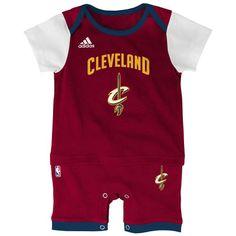 Cleveland Cavaliers adidas Newborn & Infant Fan Replica Jersey Romper - Wine/Gold