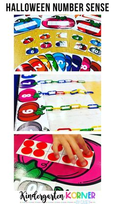 Looking for Halloween ideas for math that focus on building number sense in Kindergarten and first grade? These rainbow pumpkin ten frames can be used in so many ways. Sold separately or as part of a Halloween MEGA Bundle! #halloweenmath #halloweenideas #halloweenactivities #kindergarten #prek #homeschool #firstgrade #numbersense