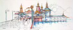 "Disney Universes — themeparkart: ""Paradise Pier"" Tim Delaney Some..."
