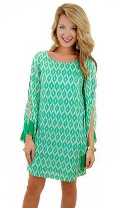 Going Green Dress $59 at www.shopbluedoor.com