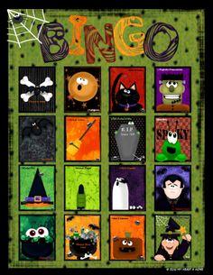 free printable halloween game halloween games and candy corn - Preschool Halloween Bingo