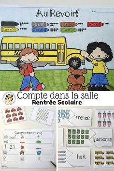 French Back to School Count the Room: Compte dans la salle Rentrée Scolaire Engage In Learning, Toddler Learning, Numeracy Activities, Learning Activities, Math Numbers, Number Puzzles, 1st Grade Math, Grade 1, Math Meeting