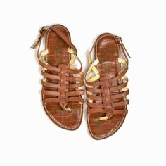 SAM EDELMAN Hamilton Leather Gladiator Sandals in Saddle Brown - 8 #SamEdelman #Gladiator
