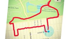 """The increasingly popular practice of using run tracker apps to trace whimsical shapes on digital maps (aka """"GPS art"""") is a fascinating example of an atavistic need expressed in a hyper-modern context. Why do it? GPS art provides an additional motivator to get out there. Not only will you be burning calories, releasing endorphins, and forgetting about the cretins you work with, you'll also be creating something in the process."""