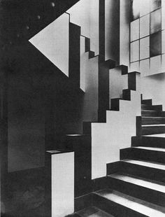 JEAN ARP AND SOPHIE TAEUBER-ARP, STAIRWAY IN THE CAFÉ AUBETTE IN STRASBOURG, 1928 #art #architecture #modernism