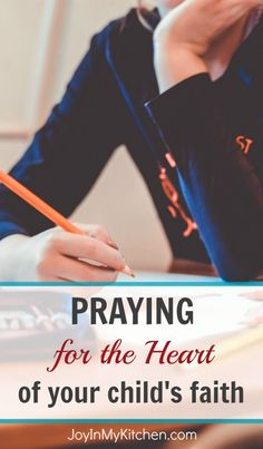 You can't make your kids love God! You CAN pray for their hearts. These Bible verses are great guides as you pray for your child's faith.