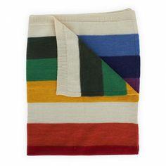 Anne-Claire Petit Babies Stripe Lambswool Blanket | AlexandAlexa $94