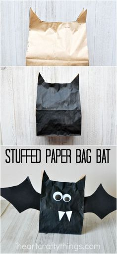 This adorable stuffed paper bag bat craft is simple to create and makes a great…