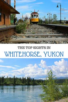 Heading up to Whitehorse, Yukon, Canada? Here are the best travel spots, including the beautiful waterfront. Join our podcast at Yukon Alaska, Yukon Canada, The Places Youll Go, Places To Visit, Alaska Highway, Highway Road, Alaska Travel, Alaska Trip, Canadian Travel