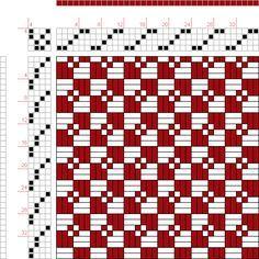 draft image: Figure 1001, A Handbook of Weaves by G. H. Oelsner, 4S, 4T