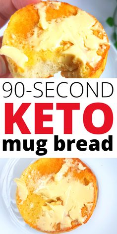 This 90 second keto mug bread recipe is THE BEST! I'm so happy I learned how to make this easy keto mug bread! Now I can always whip up a quick low carb mug bread in less than 2 minutes! Perfect for enjoying keto friendly desserts. Keto Desserts To Buy, Keto Friendly Desserts, Sugar Free Desserts, Low Carb Desserts, Keto Snacks, Snack Recipes, Dessert Recipes, Keto Recipes, Keto Foods