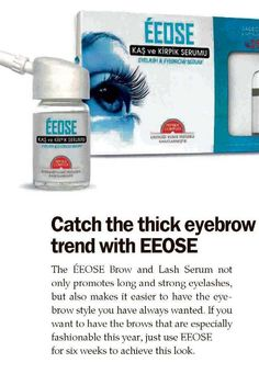 Today's Zaman: Catch the thick eyebrow trend with ÉEOSE