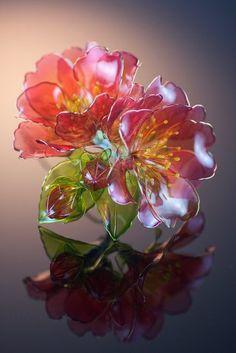 埋め込み画像 Nylon Flowers, Wire Flowers, Kanzashi Flowers, Paper Flowers, Plastic Bottle Flowers, Plastic Bottle Crafts, Resin Jewelry Making, Handmade Wire Jewelry, Asian Hair Ornaments