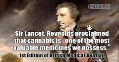 """#HempHistory Sir Lancet, Reynolds proclaimed that #cannabis is """"one of the most valuable medicines we possess."""" 1st Edition of British Medical Journal"""
