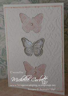 Backyard Basics stamp set and Framelits bundle and Venetian Romance Designer Series Paper.