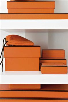 A certain orange box for storage
