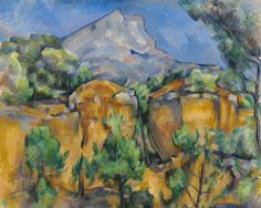 Paul Cézanne | Mont Sainte-Victoire Seen from the Bibémus Quarryc  Dimensions: 25 5/8 x 32 in. (65.1 x 81.3 cm.)