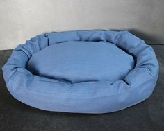Gorgeous sea blue luxury dog bed  - made from bamboo/cotton