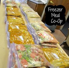 Freezer Meal Co-op, Great to do with a group of friends to prep for busy weeknights or for a new baby!    -SquashBlossomBabies