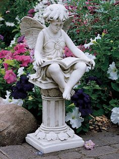 love this statue! I have this statue in  my garden and have had for years.  When she gets to looking faded I simply paint and antique her.
