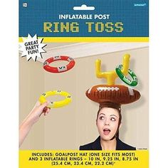 Football Frenzy Birthday Party Inflatable Post Ring Toss Game