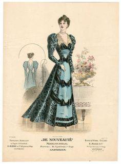 1895-1898, Plate 124 :: Costume Institute Fashion Plates