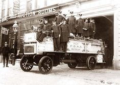 You are looking at picture of Firemen posed on fire engine, New York City. It was taken in between ca. 1908 and 1916.