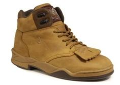 Roper Footwear Mens Horseshoe Kiltie Shoe Amber Brown by Aegis. $98.99. Roper(R) Men's Horseshoe Kiltie Shoes Rugged good looks in a sporty style, this Kiltie shoe is part western boot, part athletic shoe. The fringed tongue adds some flair, while the forged steel shank and soft inner sole offers support and stability to take you from the barn to back in the saddle. Features: Removable comfort footbed Non-marking rubber outsole Crazy Horse leather upper Double stitch seams...
