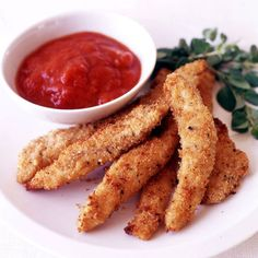 Parmesan Chicken Tenders with Marinara Dipping Sauce | Weight Watchers