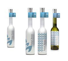 Diseño para aceite de oliva virgen extra ecológico Salud Atenea
