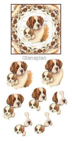 Image Stitching, 3d Dog, Free Collage, Decoupage Printables, 3d Sheets, Image 3d, Picture Postcards, 3d Cards, Card Patterns