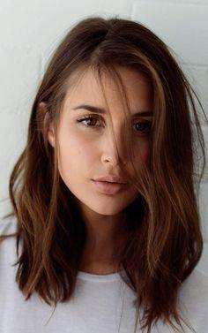 Fine hair medium brunette brown eye makeup                              …