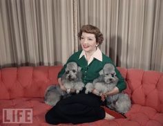 Claudette Colbert and Her Poodleslife.com