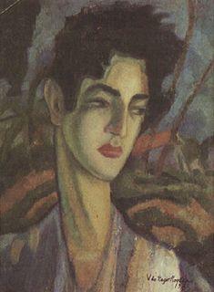 Retrato de Joaquim do Rego Monteiro 1920   Vicente do Rego Monteiro óleo sobre tela, c.i.d. 42.00 x 32.00 cm Coleção Museu de Arte Contemporânea da Universidade de São Paulo (SP)