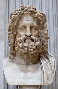 Zeus (Jupiter) - Greek God - King of the Gods and men. Zeus was the top god of the pantheon of the Olympians and the supreme god of the ancient Greeks. Greek And Roman Mythology, Greek Gods And Goddesses, Classical Mythology, Roman Sculpture, Sculpture Art, Ancient Art, Ancient History, Zeus Greek, Zeus Jupiter