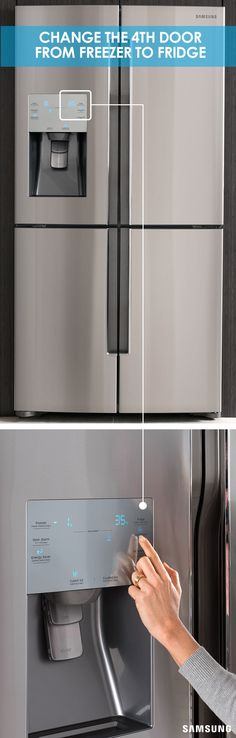 The Samsung 4-Door Flex refrigerator gives you the power to change your freezer door to meet your cooling and fridge organization needs as they come up. The temperature of the fourth compartment of your fridge is at your complete and total control. With the push of a button, go from a frozen -9° F to a refrigerated 41° F.