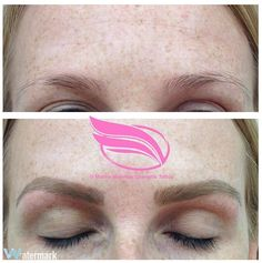 Cosmetic Tattoo in my 'Hairstroke' style, also known as Feathering, Feather Brows, Eyebrow Embroidery or Microblading.