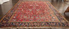 Antique Persian Serapi Heriz Wool 8 x 11 Rug Hand Made Veg Dye Oriental Large #Persian