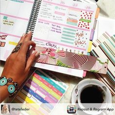 Deixe suas atividades do dia a dia mais coloridas e alegres... Compre online e receba em casa #dailyplanner #meudailyplanner #loveplanner #plannernerd