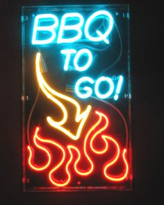 Custom Neon Window Signs  BBQ To Go