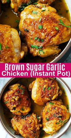 Instant Pot Brown Sugar Garlic Chicken Recipe | Moms Recipes #instantpot #instantpotrecipes #chicken...