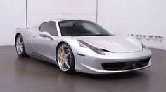 2013 Ferrari 458 Base Convertible 2-Door 2013 Ferrari 458 Spider Argento Nurburgring over Nero